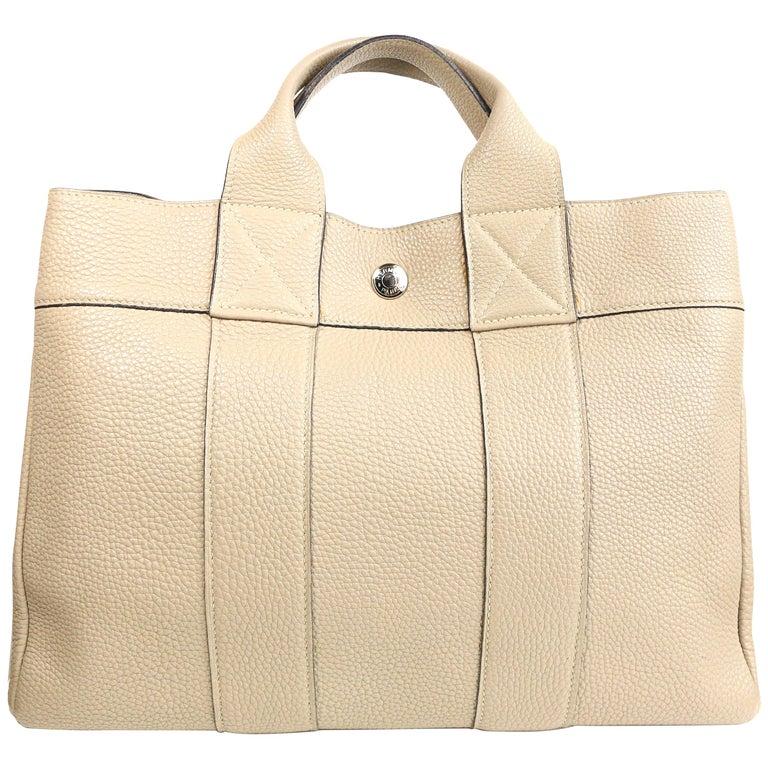 Hermes Gris Tourterelle Gray Deauville Pm Bag