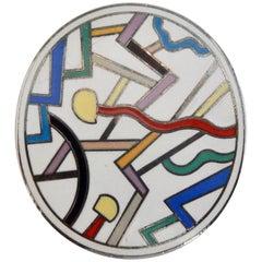 "Ettore Sottsass ""Circulus"" Brooch for Acme Memphis, 1980s"