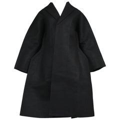 Iconic Comme Des Garcons 2D Flat Collection Black Felt Doll Coat Runway 2012