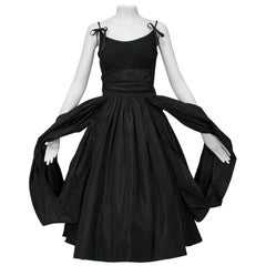 Shoulder Bow Party Dress with Looping Car Wash Skirt, 1950s