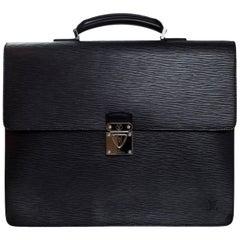 Louis Vuitton Black Epi Robusto Noir 2 Compartment Briefcase Bag