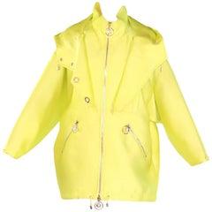New VERSACE Yellow Silk Coat