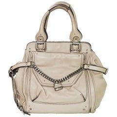 Chloe Beige Leather Large Paddington Capsule Tote Bag