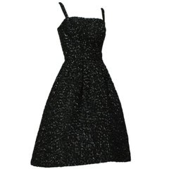 Voluminous Fully-Sequined Circle Dress with Graduated Hemline, 1950s