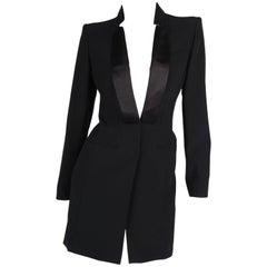 Alexander McQueen Tuxedo Dress - black