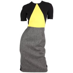 Victoria Beckham Dress - black/grey/yellow