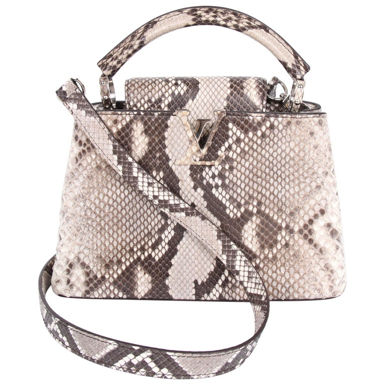 Louis Vuitton Capucines BB Top Handle Bag - python leather