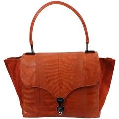 Giorgio Armani Shoulder Orange Lizard Bag