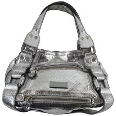 Jimmy Choo Silver Leather Handbag