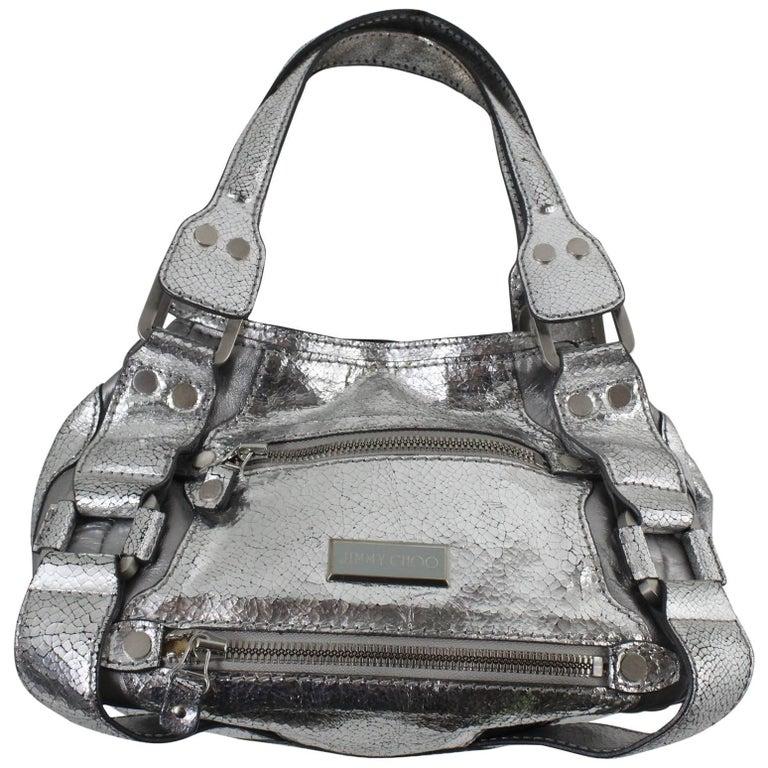 Jimmy Choo Silver Leather Handbag