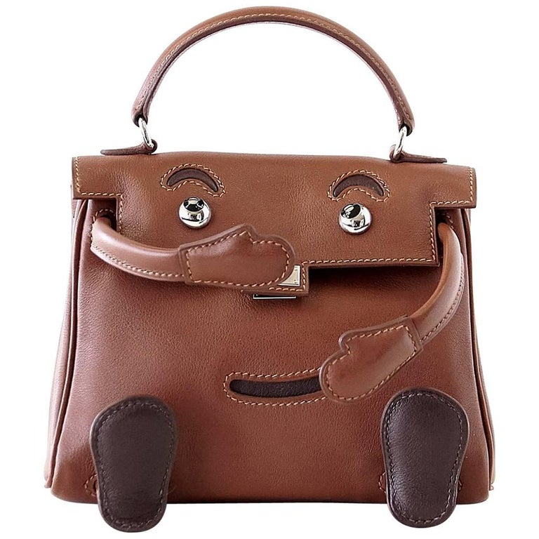 e6bcd92c5b5e Hermes Quelle Idole Kelly Doll Rare Limited Edition Noisette Gulliver  Leather For Sale