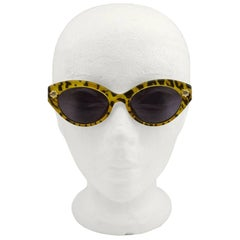1980s Christian Lacroix Leopard Print Sunglasses