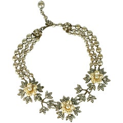 Miriam Haskell Flower Necklace