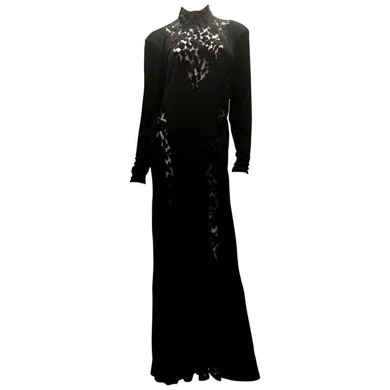 Rare 1970's Ossie Clark Evening Gown