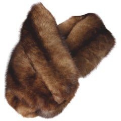 Pristine Vintage Barguzin Russian Sable Fur Wrap, Stole or Fling