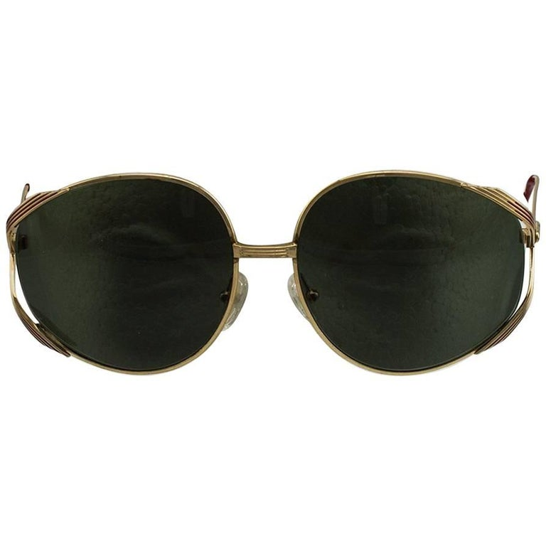 1980s Christian Dior Oversized Sunglasses