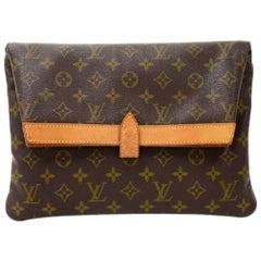 Louis Vuitton Pochette Pliant Monogram Canvas Envelope Clutch Bag