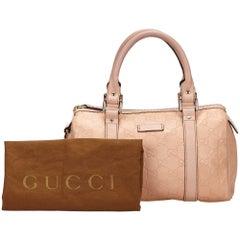 Gucci Pink Guccissima Leather Handbag