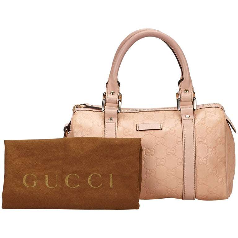 Gucci Pink Guccissima Leather Handbag For Sale at 1stdibs