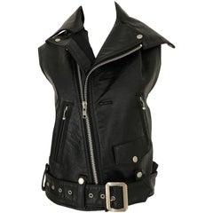 Junya Watanabe Black  Deconstructed Leather Vest