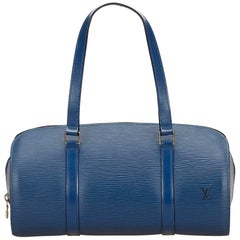 Louis Vuitton Blue Epi Soufflot