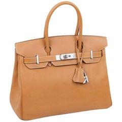 HERMES Birkin 30 Bag in Epsom Gold H Leather