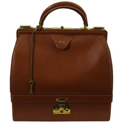 Vintage Hermes Doctor Bag with Jewlery Compartiment. With 2 Keys