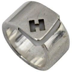 Hermes Candy Ring in Sterling Silver Size french 51