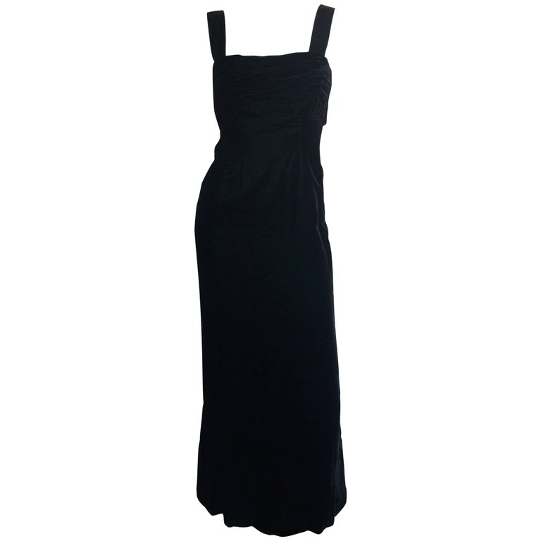 Oscar de la Renta dark green velvet dress