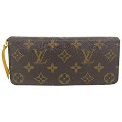 Louis Vuitton Clemence Monogram Jonquille Wallet in Dust Bag