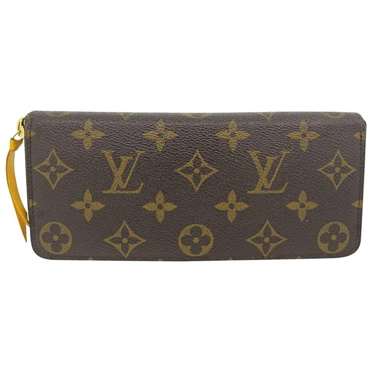 Louis Vuitton Clemence Monogram Jonquille Wallet in Dust Bag