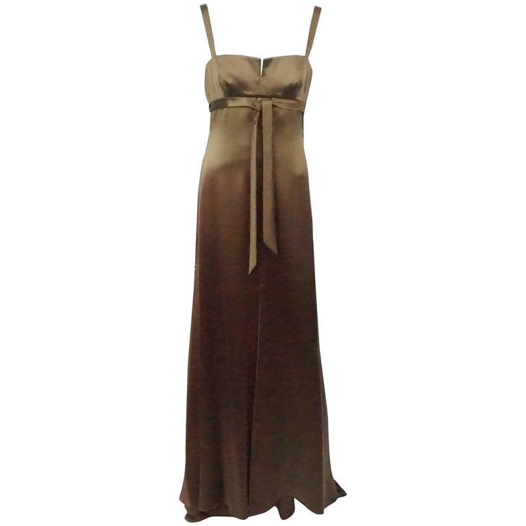 Valentino Brown Silk Gown - 10