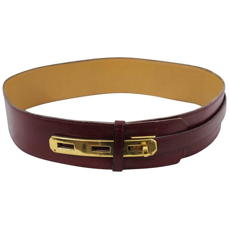70's Nice Vintage Box Leather Hermes Kelly Belt