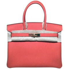Hermes 30cm New WOT Feu Togo Leather Birkin Bag