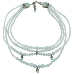 Christian Dior By John Galliano Opalescent Drapery Necklace