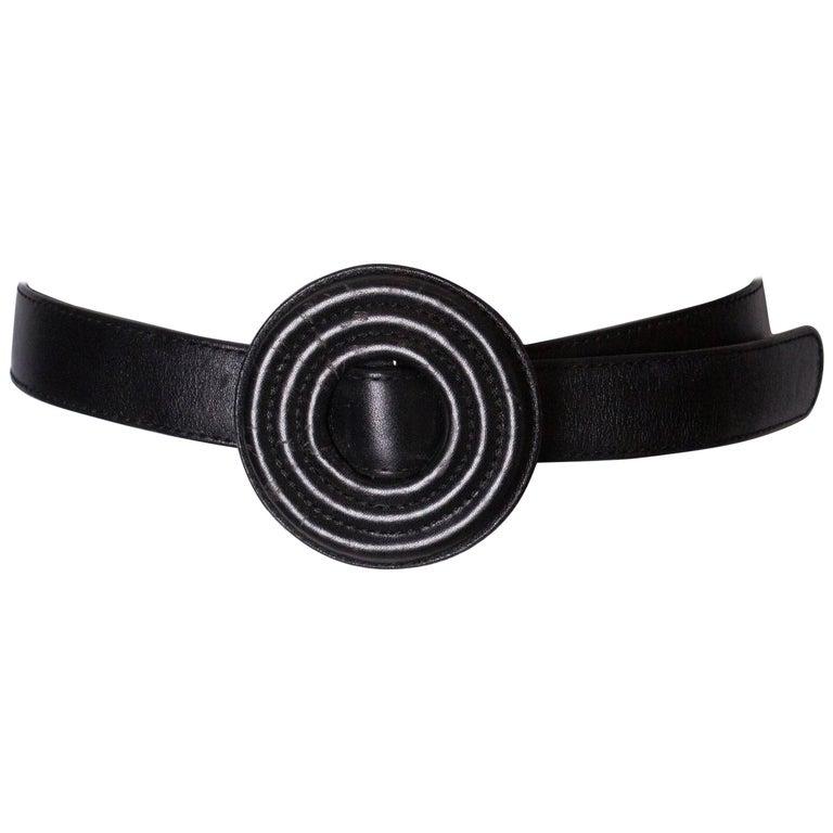 Vintage Leather Yves Saint Laurent Belt