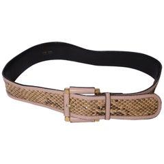 Vintage Escada Snakeskin Belt