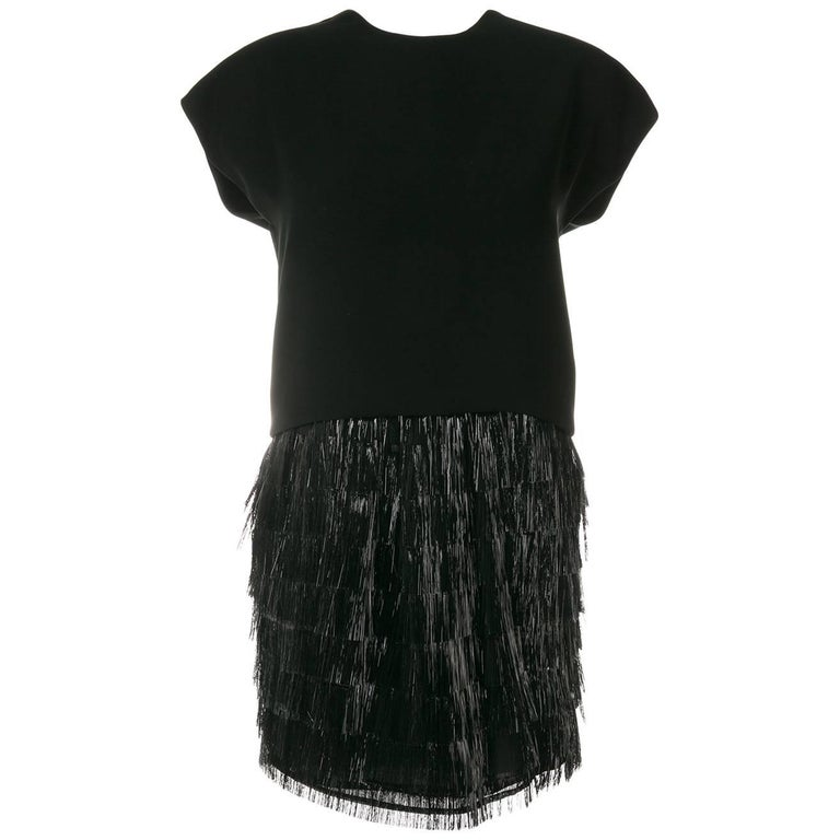 Balenciaga Fringed Cocktail Dress