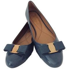 Superb Salvatore Ferragamo Varina Patent Calf Leather Ballerina Flats