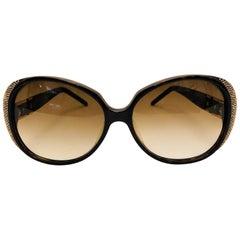 Sophisticated Sospiri Brown Tortoise Giulia Sunglasses With Swarovski Crystals
