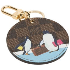 Louis Vuitton Limited Edition Monogram Penguins Keychain Charm