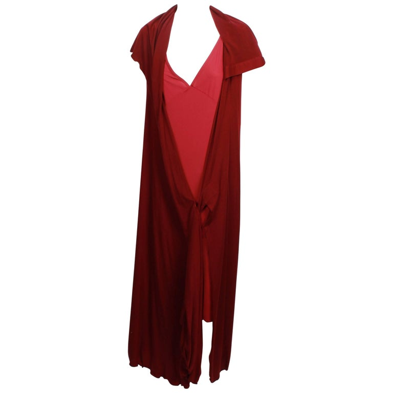 Issey Miyake Long Stretch Wrap and Under Slip Dress
