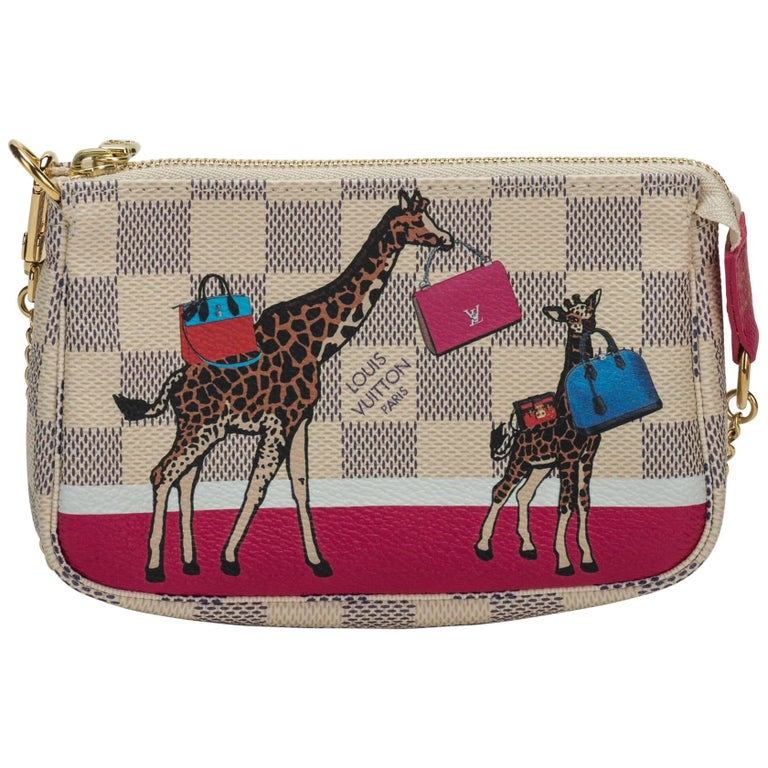 Louis Vuitton Sold Out Mini Pouchette Giraffe Bag