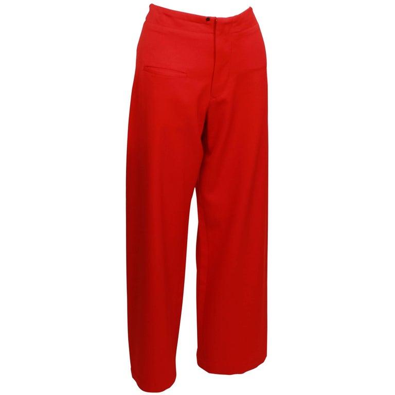 Yohji Yamamoto Red Pants M