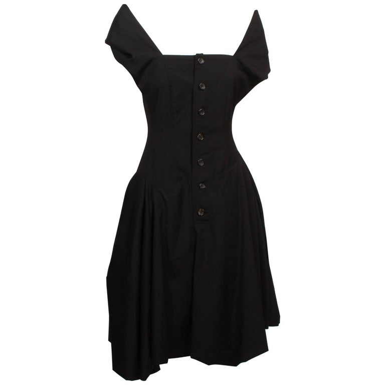 Comme des Garcons Black Halter Neck Dress