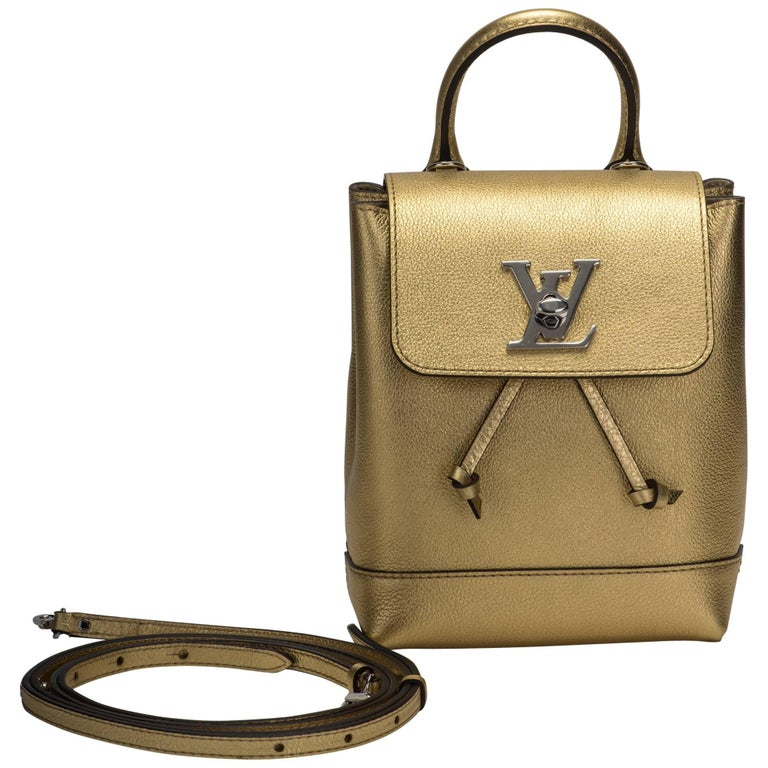 32ab12b8f77c Vuitton Sold Out New Gold Lockme Mini Backpack For Sale. Louis Vuitton SOLD  OUT limited edition ...