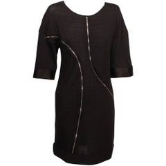 Junya Watanabe for Comme des Garcons Black Double Zipper Dress