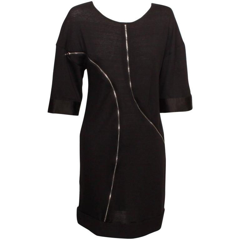Junya Watanabe for Comme des Garcons Black Double Zipper Dress