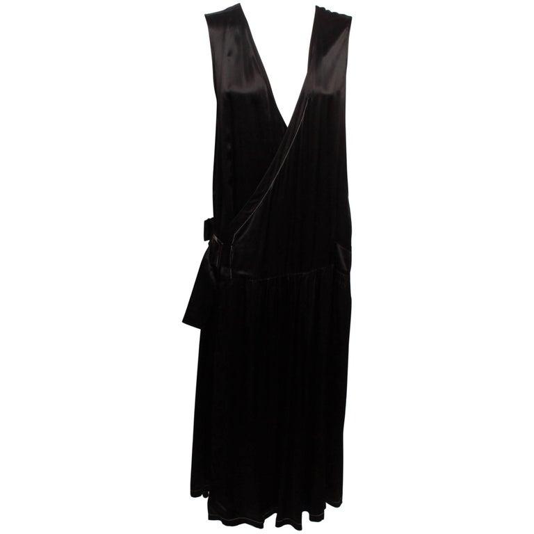 Y's Yohji Yamamoto Wrap Black Buckle Dress