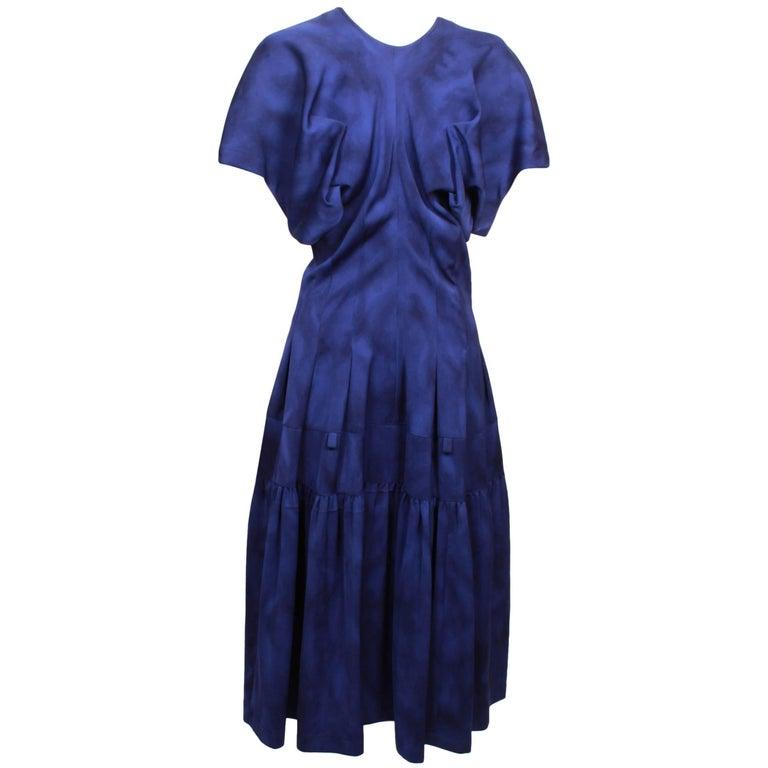 Comme des Garcons Blue Watercolour Dress